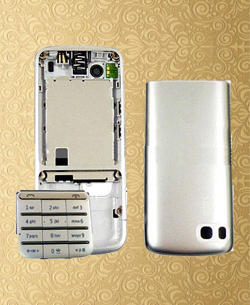Nokia C3-01 Full Set Silver Housing