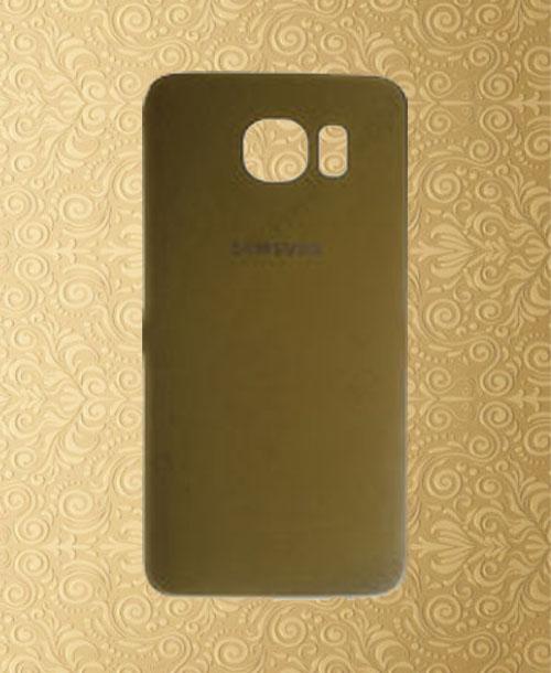 Samsung S6 Battery Cover Dark Gold