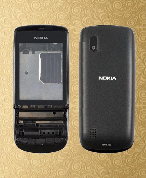 Nokia 300 full set housing Black