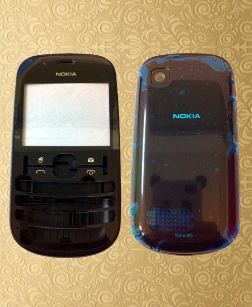 Nokia Asha 200 full set housing black
