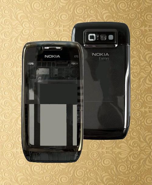 Nokia E71 Housing without Keypad Black